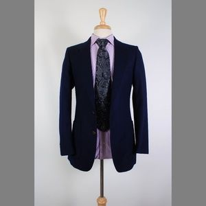 Yves Saint Laurent 34R Navy Sport Coat Y464